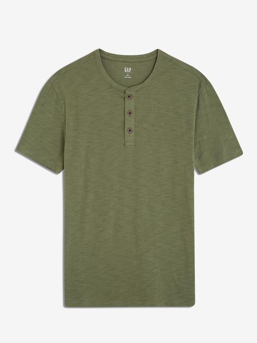 Kısa Kollu Henley T-Shirt