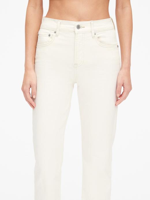 Kadın Yüksek Belli Straight-Fit Jean Pantolon