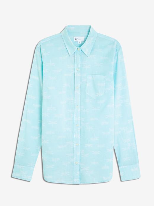 Baskılı Uzun Kollu Gömlek