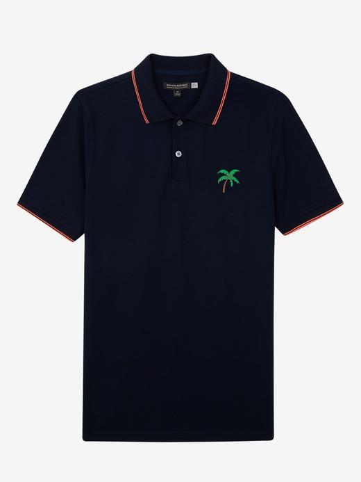 Palmiyeli Pique Polo T-Shirt