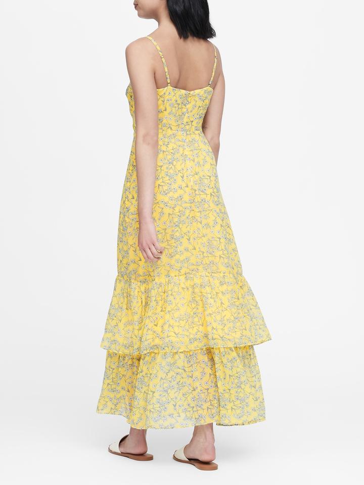 Kadın çiçek desenli Çiçek Desenli Maxi Elbise
