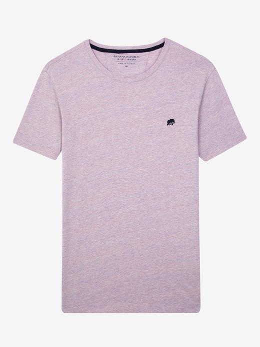 Erkek puslu mor Kısa Kollu T-Shirt