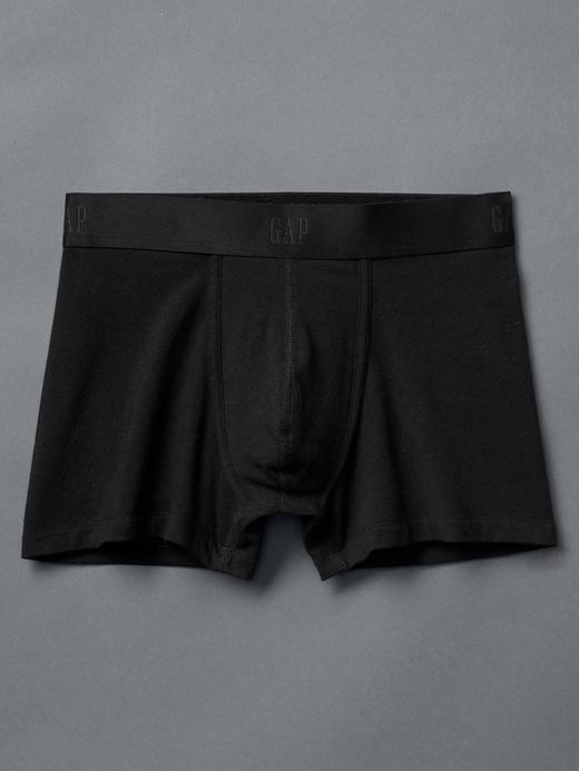 Erkek Siyah Basic Streç Boxer