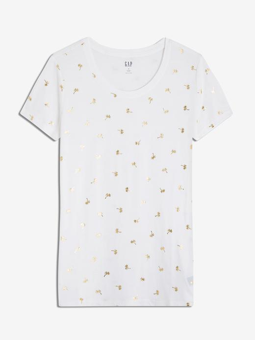 Favorite Desenli Sıfır Yaka T-Shirt