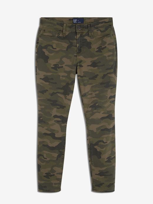 Kadın yeşil Kamuflaj Desenli Pantolon