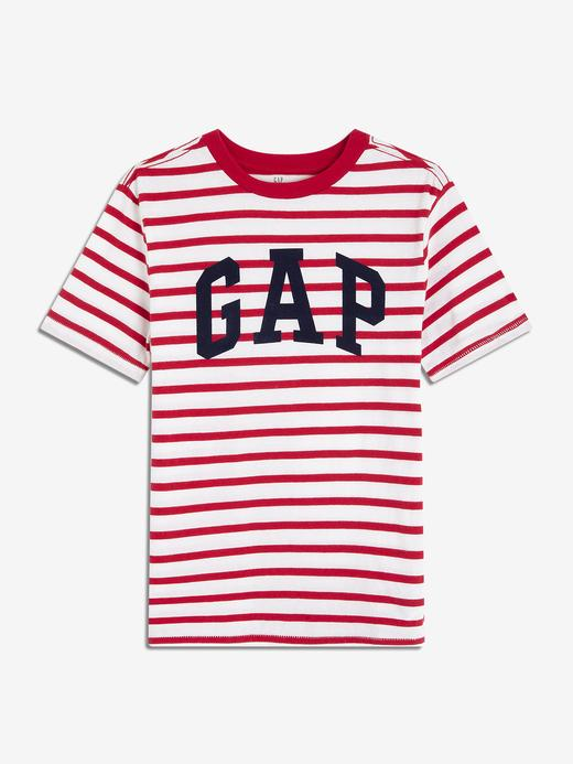 Erkek Çocuk Çizgili Gap Logo T-Shirt