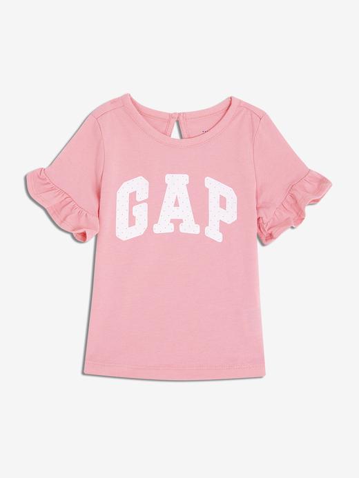 Bebek pembe Kız Bebek Gap Logo Kısa Kollu T-Shirt