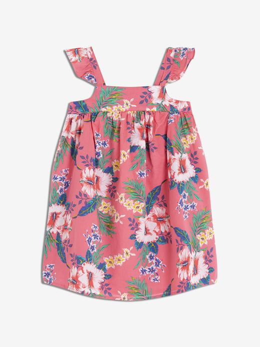 Bebek çiçek desenli Kız Bebek Elbise