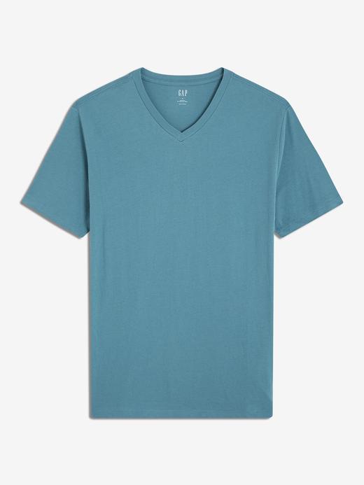 Erkek yeşil Erkek V-Yaka T-Shirt