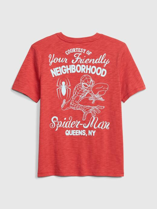 Erkek Çocuk açık kırmızı GapKids Marvel Kısa Kollu T-shirt