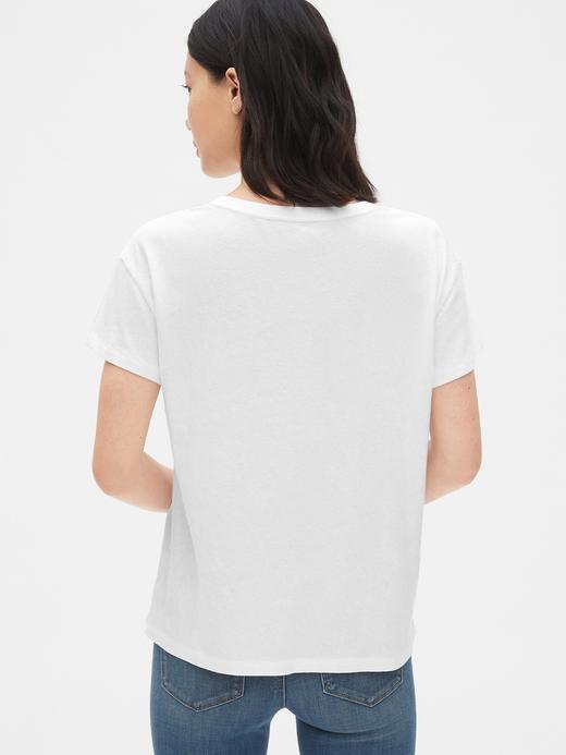 Kadın beyaz Kadın Kısa Kollu Grafik T-shirt