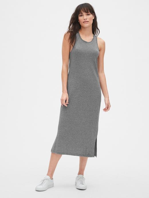 Kadın Kolsuz Midi Elbise