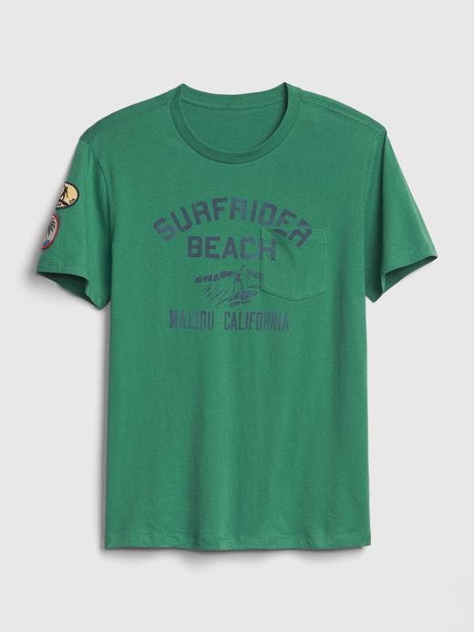 Cepli Grafik  Kısa Kollu T-Shirt