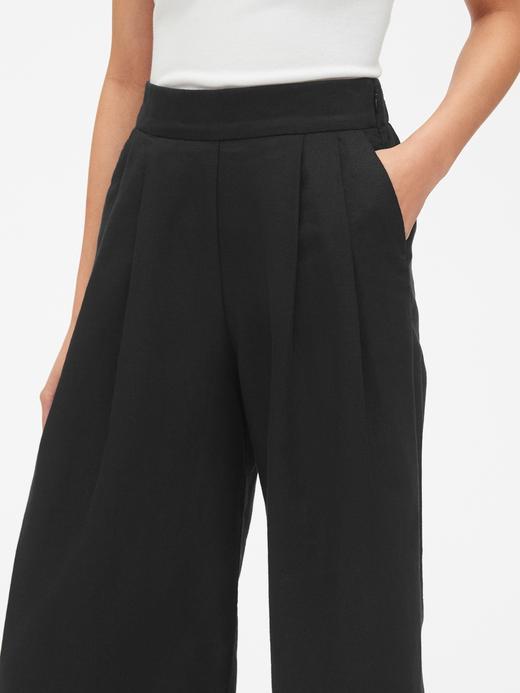 Kadın siyah Kadın Yüksek Bel Wide Fit Kısa Pantolon