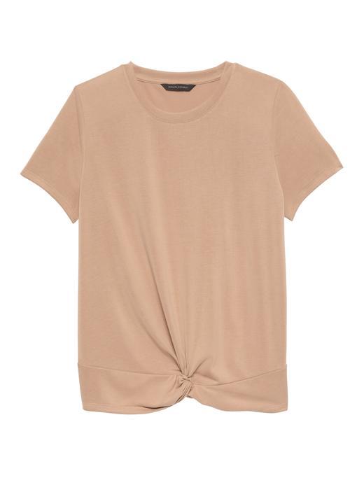 Düğüm Detaylı T-Shirt