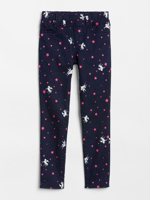 Kız Çocuk çok renkli Kız Çocuk Desenli Superdenim Tayt Pantolon