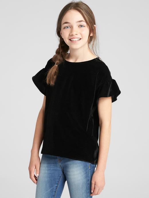 Kız Çocuk TRUE BLACK Kadife T-Shirt