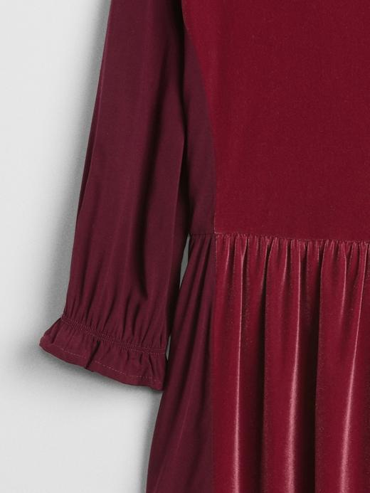 Kız Çocuk bordo Kız Çocuk Kadife Elbise
