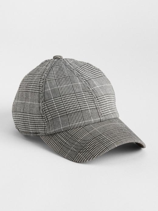 Kadın Siyah Ekoseli Şapka