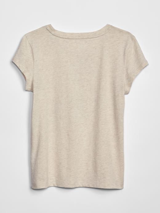 Kız Çocuk su yeşili Kız Çocuk Grafik Kısa Kollu T-Shirt