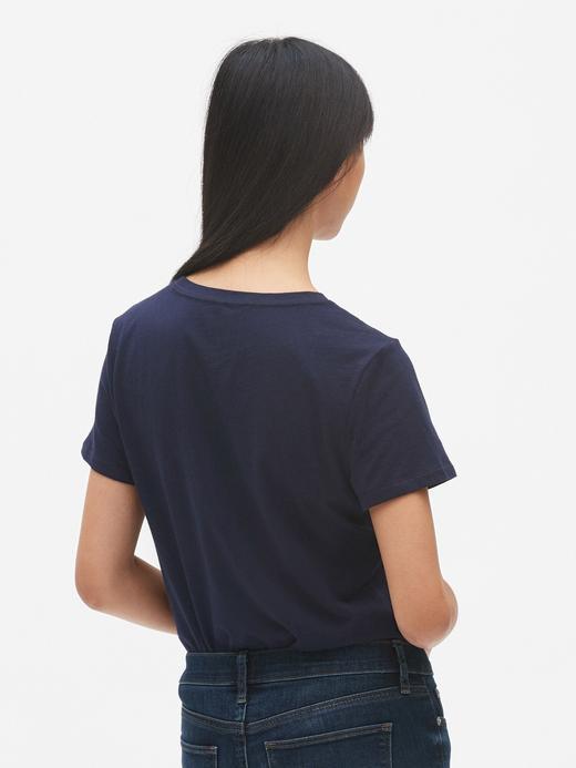 Kadın Beyaz Kadın Gap Logo Kısa Kollu T-Shirt