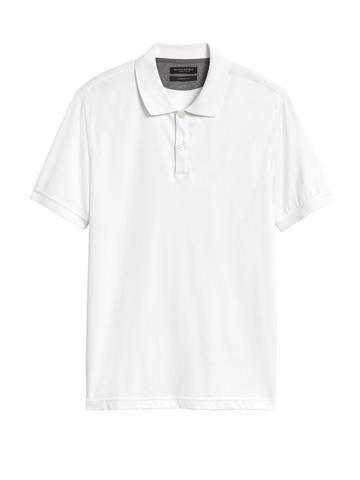 Erkek Beyaz Luxe-touch Polo Yaka T-Shirt