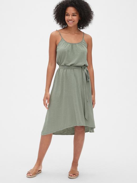 Kadın tüvit yeşili Kadın Midi Elbise
