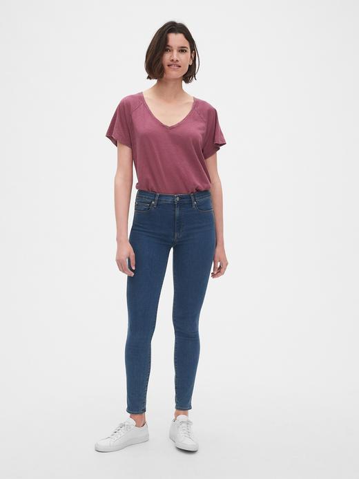 Kadın pembe Kadın V-Yaka T-shirt