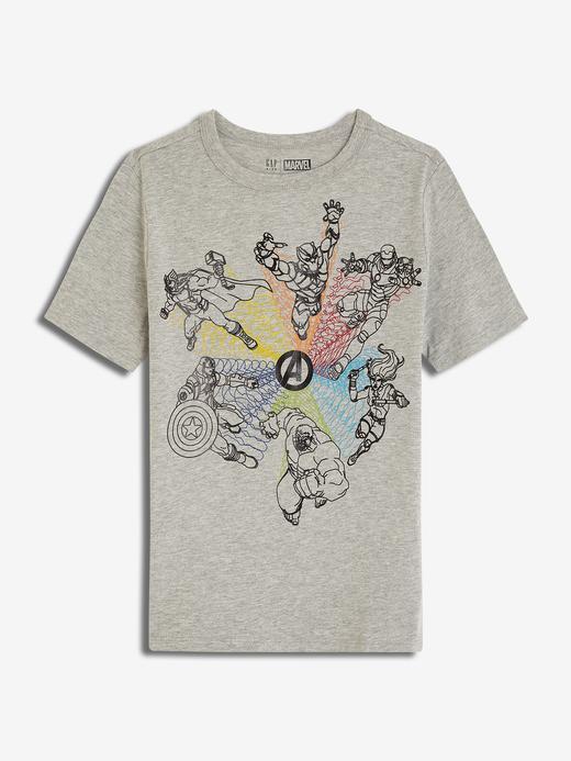 Erkek Çocuk gri GapKids | Marvel© Kısa Kollu T-Shirt