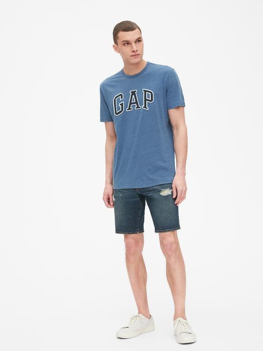 Gap Logo Indigo Sıfır Yaka T-Shirt