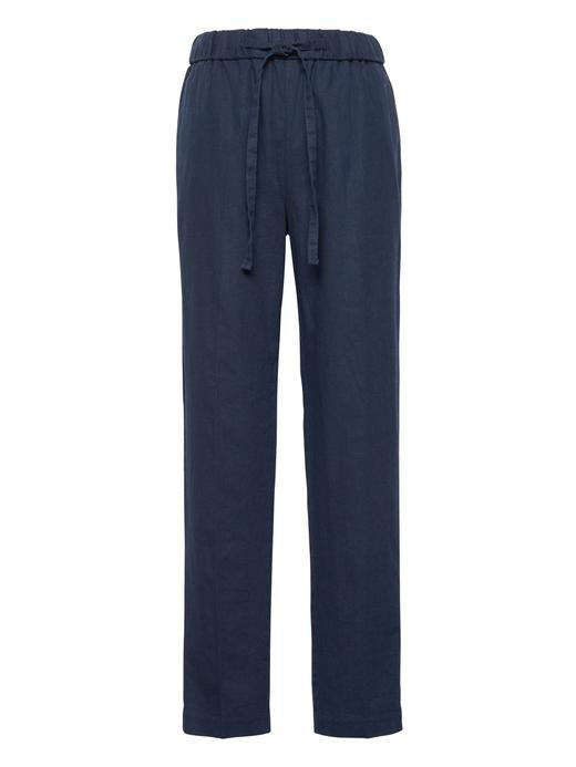 Kadın Bej Hayden Tapered-Fit Keten Pantolon