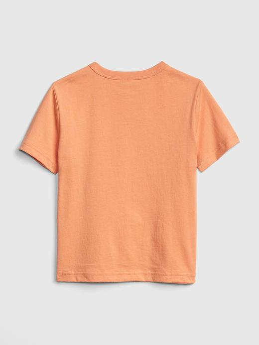 Bebek kırmızı Grafik Kısa Kollu T-Shirt