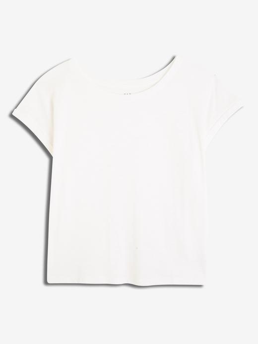 Kadın beyaz Kadın Kısa Kollu T-shirt