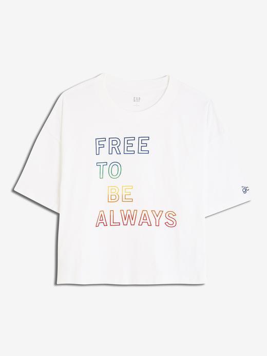 Gap Grafik Sıfır Yaka T-Shirt
