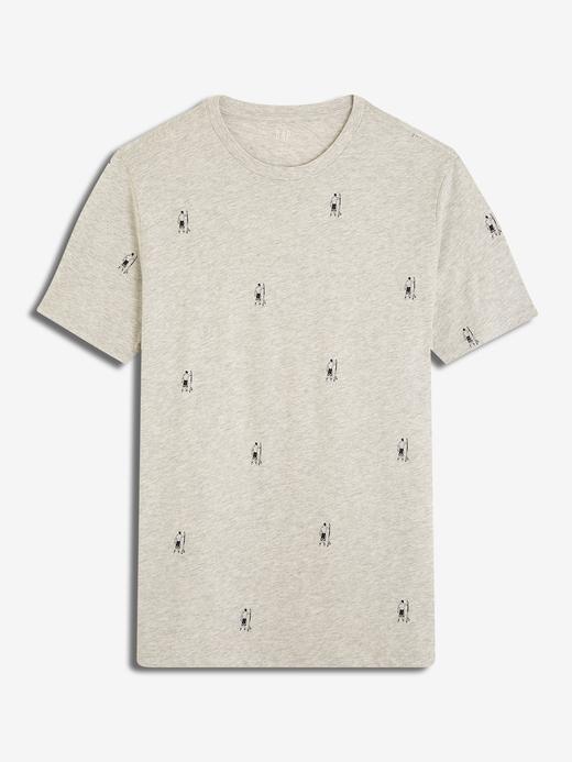 Erkek Desenli Kısa Kollu T-Shirt