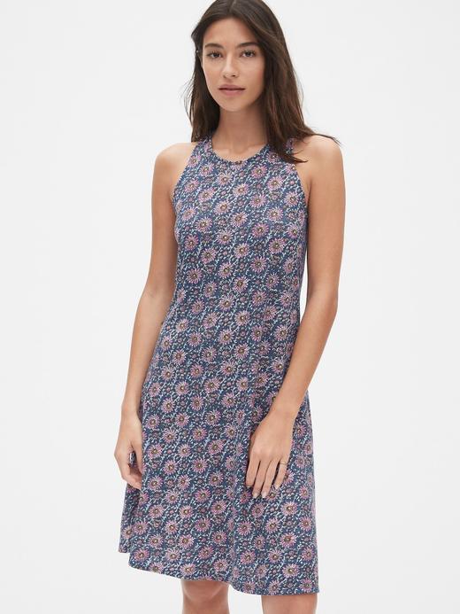 Kadın mavi Askılı Mini Elbise
