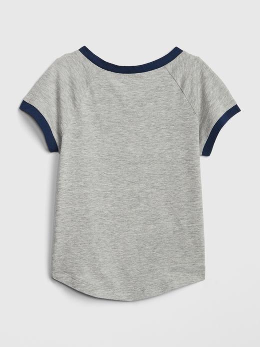Kız Bebek Grafik Kısa Kollu T-Shirt