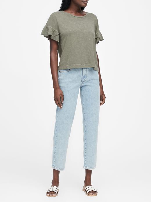 Kadın beyaz Pamuklu T-Shirt