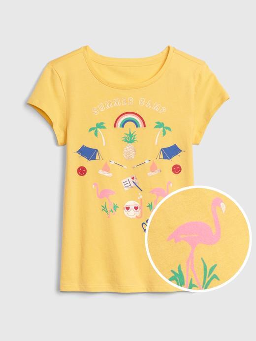 Kız Çocuk Grafik Kısa Kollu T-Shirt
