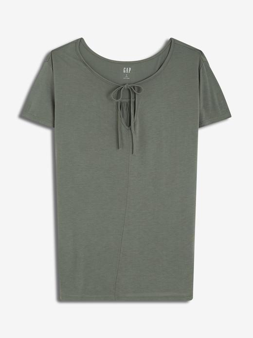 Kadın yeşil Kadın Kısa Kollu Jarse T-Shirt