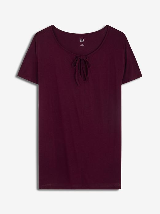 Kadın bordo Kadın Kısa Kollu Jarse T-Shirt