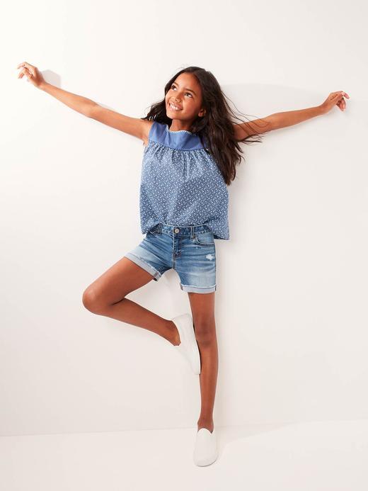 Kız Çocuk orta yıkama Superdenim Fantastiflex Midi Şort