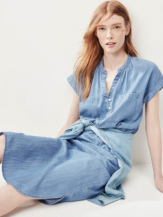 Kısa Kollu Gömlek Elbise