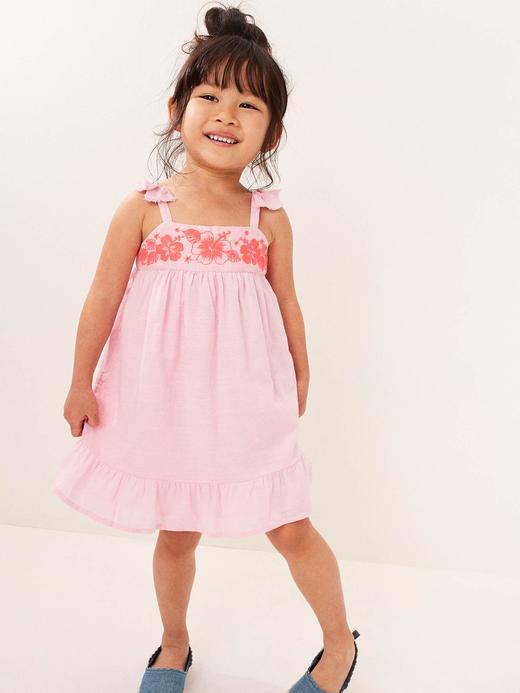 Kız Bebek İşlemeli Elbise