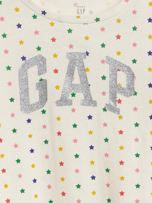 Bebek Lacivert Kız Bebek Gap Logo Uzun Kollu T-shirt