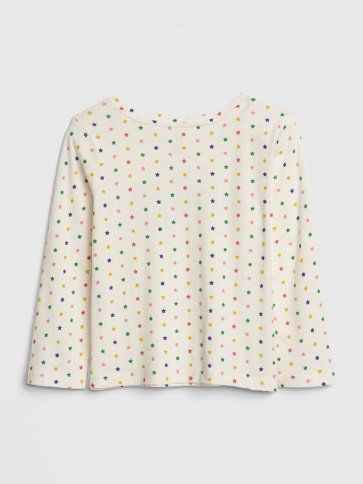 Bebek açık gri Kız Bebek Gap Logo Uzun Kollu T-shirt