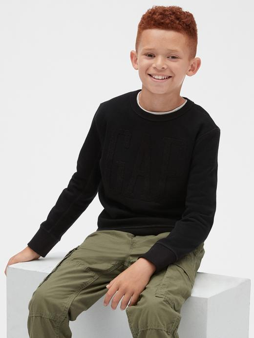 Erkek Çocuk gri kamuflaj Erkek Çocuk Gap Logo Sweatshirt