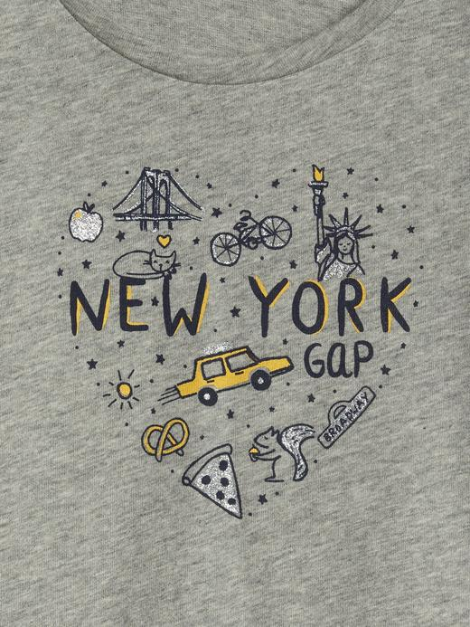 Bebek açık gri Kız Bebek Grafik T-shirt