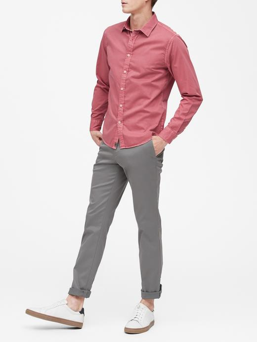 Slim-Fit Pamuklu Gömlek