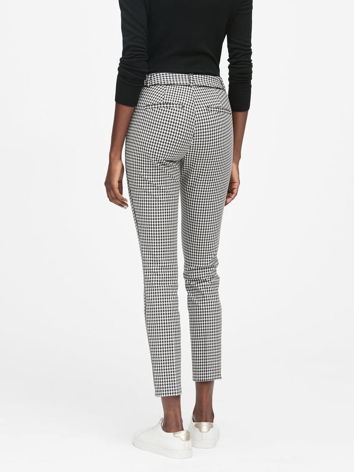 Kadın siyah beyaz Skinny-Fit Pantolon
